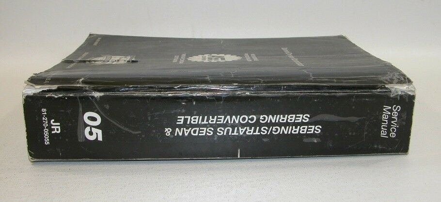2005 Chrysler Sebring Dodge Stratus Factory Service Manual Set GOOD USED COND 9