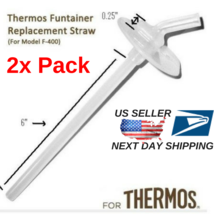 (2 Sets) BRAND New Thermos FUNtainer replacement straw - Model F400 12oz - $17.81
