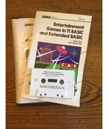 TI 99/4A SAMS Entertainment Games in TI BASIC and Extended BASIC book/ta... - $9.99