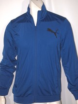 Puma tricot contrast midnight blue men's track jacket NWT - $34.99