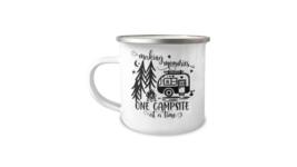 Camping Making Memories Enamel Mug 12oz Camper Mug - $17.95