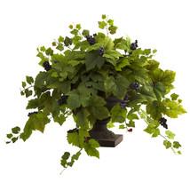 Grape Leaf w/Iron Colored Urn - $189.66