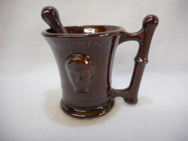 Vintage Hygeia Oepatteyma Oeooen Mortar RX Brown with Pestal Glazed - $25.20
