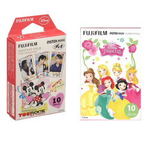 Mickey & Disney Princess FujiFilm Instax Mini Film Polaroid 20 Photos Va... - $21.49