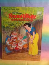 Vintage 1984 Disney A Big Golden Book Snow White and the Seven Dwarfs Ha... - $11.83