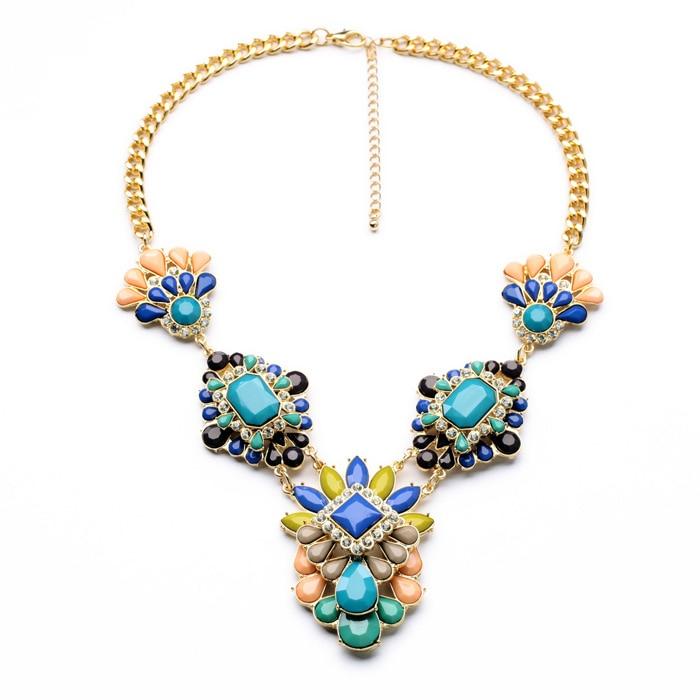 wholesale latest imitation jewelry new arrival unique women 2014 acrylic statement light gold 1