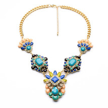 Latest Imitation Jewelry Unique Women  Acrylic Statement Light Gold Neck... - $21.40