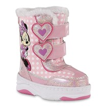 NEW NWT Toddler Girls Disney Minnie Mouse Snow Boots Size 9 10 11 or 12 - $26.99+