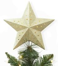 Wondershop Easy Clip Lit Star Ceiling Illuminating Christmas Tree Topper Gold image 1