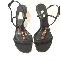 PRADA Black Fabric Ankle T-Strap Size 6.5 M - $75.00