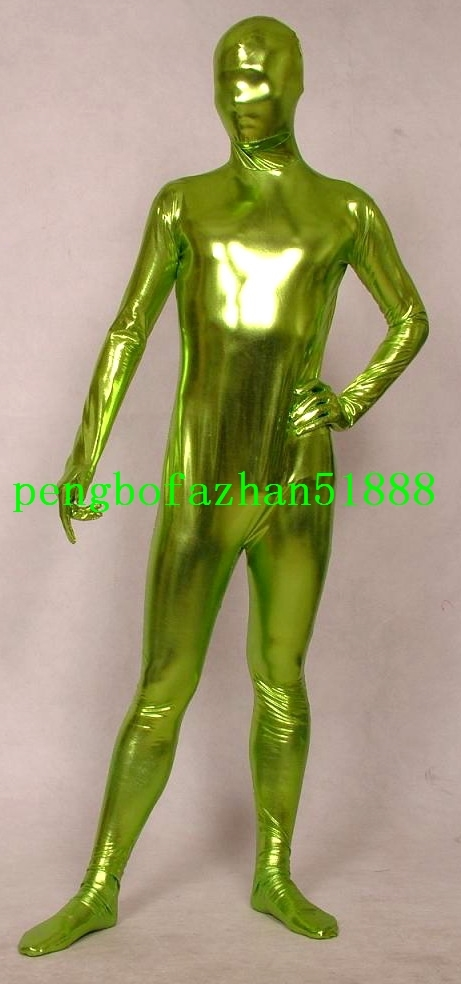 Unisex Full Body Suit Outfit 15 Color Shiny Metallic Suit Catsuit Costumes S957