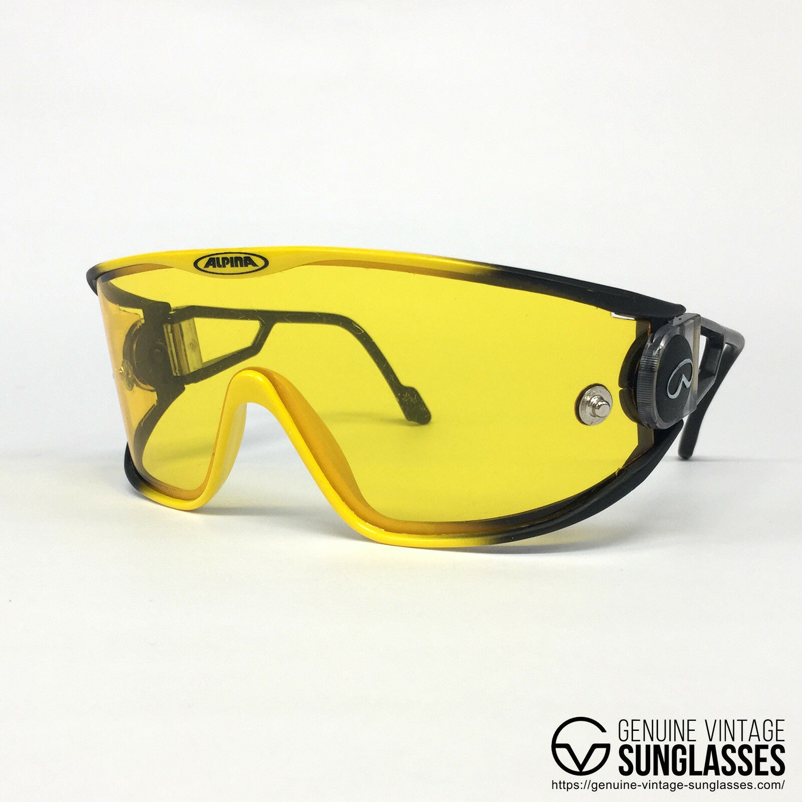 Primary image for ALPINA S3 Yellow vintage sunglasses - Various Swing - W.Germany 80s Large