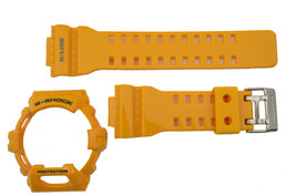 genuine Casio Watch band Strap & Bezel GLS-8900-9 yellow Rubber Set - $80.00