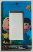 Peanuts Charlie Brown Lucy Woodstock Light Switch Outlet Wall Cover Plate Decor image 2