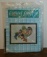 "Horn of Plenty Sew n Tell Crewel Kit 16"" x 14"" Embroidery - $8.79"