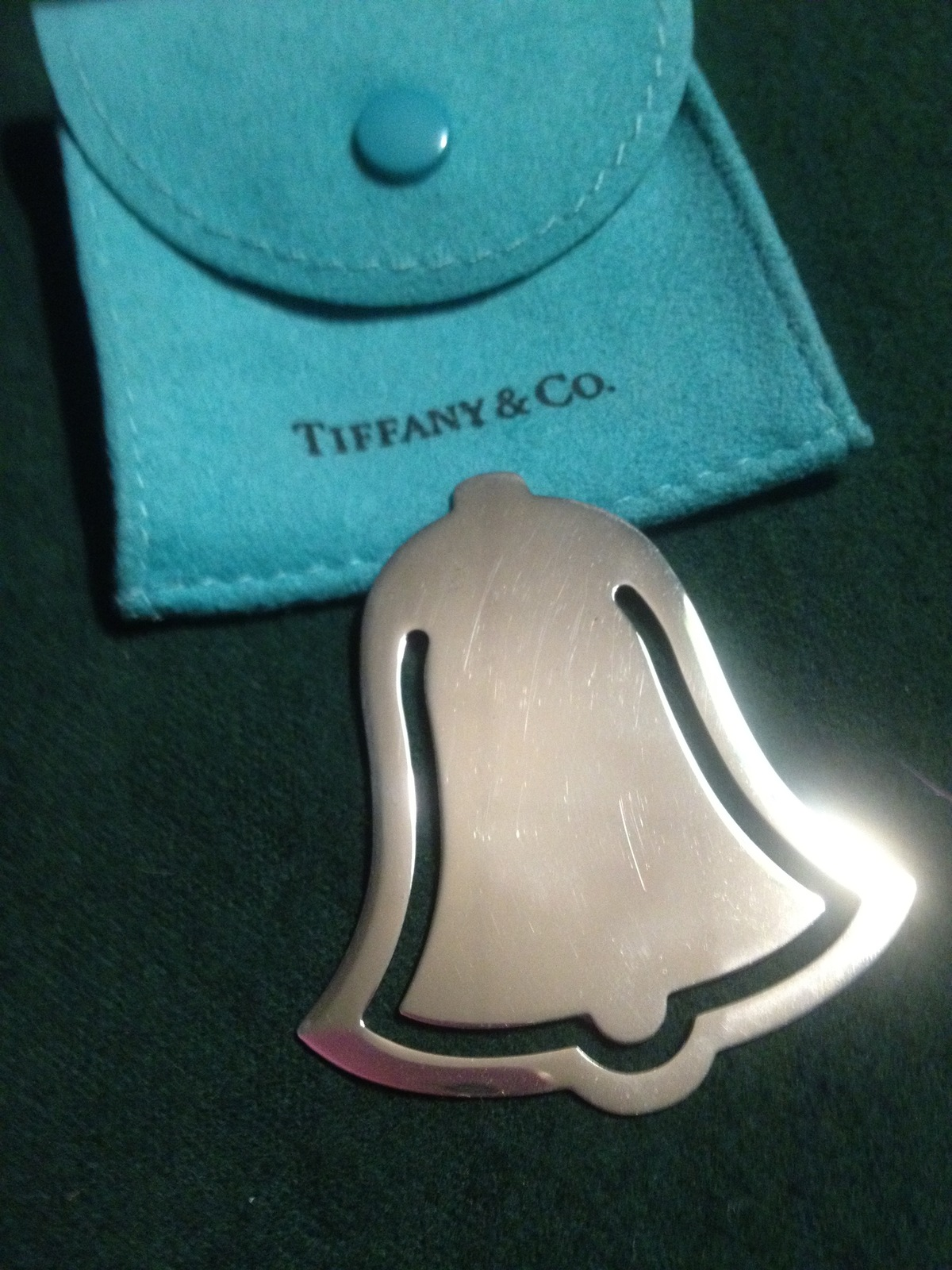"TIFFANY & CO. ""Bell"" shaped BOOKMARK in Sterling Silver - RARE - 1999"