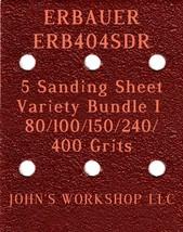 ERBAUER ERB404SDR - 80/100/150/240/400 Grits - 5 Sandpaper Variety Bundle I - $7.53