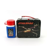 Star Wars King-Seeley Metal Lunchbox with Thermos, Original Vintage 1977... - $171.50