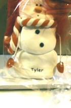 CHRISTMAS ORNAMENTS WHOLESALE- SNOWMAN- 13357-'TYLER'-  (6) - NEW -W74 - $5.83