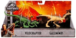 Jurassic World Fallen Kingdom Velociraptor and Gallimius 2 Pack Action F... - $18.49