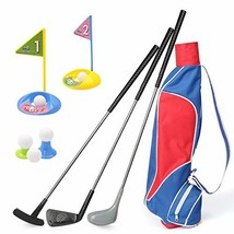 Kids Golf Clubs Set, Exercise N Play Deluxe Happy Young Golfer Sports Kit, 15 Pi