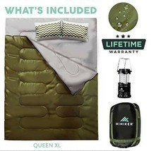 Double Sleeping Bag Queen Size XL for Camping - $113.14 CAD