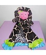 Mud Pie Lion Baby Security Blanket Lovey Brown Black Giraffe Spot Zebra ... - $24.73
