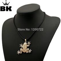Antique classicism frog gold zinc alloy pendant chain necklace jewlery - $13.03