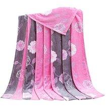 Rose Pattern Children Air Conditioning Blanket Siesta Blanket Towel Coral Carpet image 2