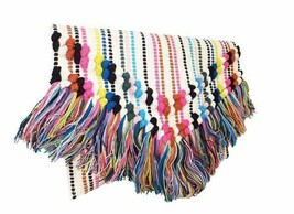 Sondra Roberts Multi-Colored Boho Woven Tassel Clutch - $58.41