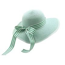 UV Girls Summer Sunscreen Large Brimmed Hat Child Children Folding Beach Hat image 2