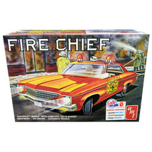 Skill 2 Model Kit 1970 Chevrolet Impala Fire Chief 2 in 1 Kit 1/25 Scale... - $54.94