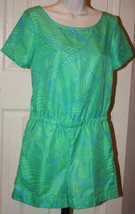 Ann Taylor LOFT Green Turquoise Shorts Romper Short Sleeve Sz 0 Zippered... - $39.99