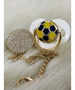 Footbal pacifier and clip - $60.00
