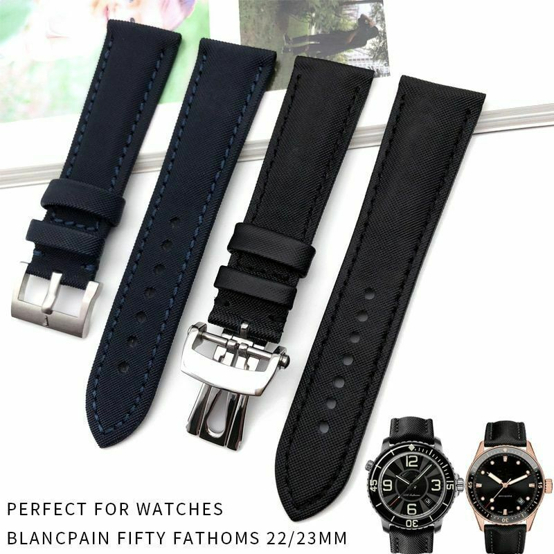 Primary image for 23mm Nylon Watch Strap Fashion Sport Watches Bracelets For Blancpain Fifty Bands