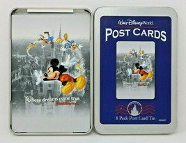 Walt Disney World Post Cards 8 Pack Post Card Collector Tin - $19.77