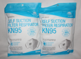 2 Pack! Sunjoy Non-Medical Self Suction KN95 Standard Size Face Mask 10 ... - $19.97