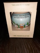 The Loved Filled Home Satin Christmas Ornament Hallmark 1979 Tree Trimmer... - $5.23