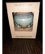 The Loved Filled Home Satin Christmas Ornament Hallmark 1979 Tree Trimme... - $5.23