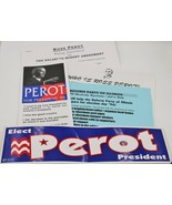 Vintage 1996 Ross Perot Presidential Election Campaign Literature Bumper... - $9.88