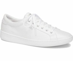 Keds Womens Ace Metallic Canvas Sneakers White/Silver - $55.00
