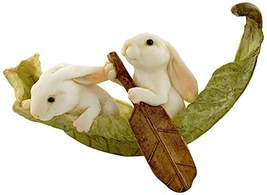 Top Collection Miniature Fairy Garden and Terrarium (Rabbits Rowing Leaf... - $23.74
