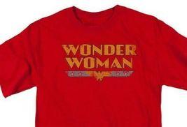 Wonder Woman T-shirt distressed DC comic book Batman superhero cotton tee DCO448 image 2