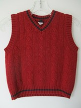 Wool Baby Gap Size 4T Sleeveless Solid Red V-Neck Cable Knit Sweater Vest - $20.80