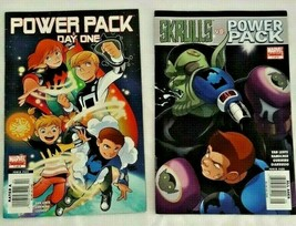 Power Pack Vs Skrulls Comic Book Lot 2 Day One #1 Sept May 2008 Marvel L... - $14.84