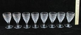 Cordial Sherry Glasses Clear Glass Cube Diamond... - $24.70