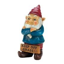 Garden Gnomes, Keep Off Grass Grumpy Christmas Outdoor Lawn Gnome, Polyr... - $26.99