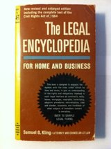 The Legal Encyclopedia for Home and Bus [Mass Market Paperback] Samuel G... - $9.97