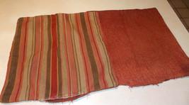 Pair of Burgundy Tan Stripe Print Throw Pillows  18 x 18 - $59.95