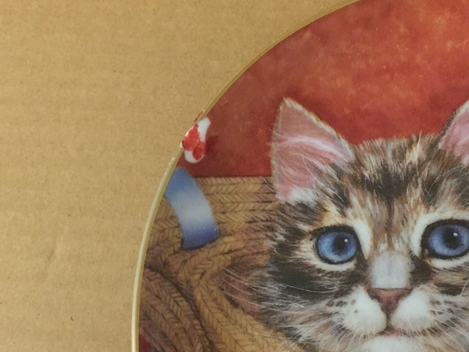 Toby And Tammy PURRFECT PAIRS Cat Kitten Robert Guzman-Forbes Danbury Mint Plate image 2